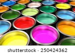 paint buckets | Shutterstock . vector #250424362