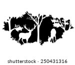 animal of wildlife  deer  | Shutterstock .eps vector #250431316