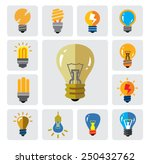 vector color bulbs icons on... | Shutterstock .eps vector #250432762