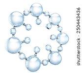 glass molecule on white | Shutterstock . vector #250443436