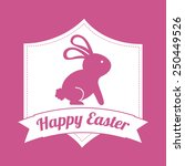 happy easter design  vector... | Shutterstock .eps vector #250449526