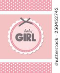 baby announcement card. vector... | Shutterstock .eps vector #250452742