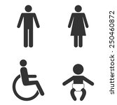 set of toilet people signs.... | Shutterstock .eps vector #250460872