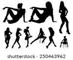 silhouettes dance girls design | Shutterstock .eps vector #250463962
