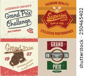 vintage racing vector pack | Shutterstock .eps vector #250465402