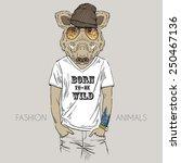 illustration of wild boar...   Shutterstock .eps vector #250467136