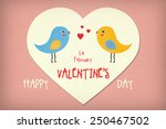 valentine's day illustrative... | Shutterstock . vector #250467502