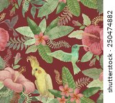 seamless floral pattern from... | Shutterstock . vector #250474882