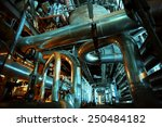 equipment  cables and piping as ... | Shutterstock . vector #250484182