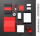 template business mock up for... | Shutterstock . vector #250505812