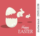 happy easter card design ... | Shutterstock .eps vector #250511158