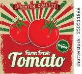 colorful vintage tomato label... | Shutterstock .eps vector #250511866