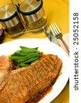 t bone steak with red potatoes...