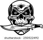 skull dagger knife  | Shutterstock .eps vector #250522492