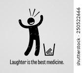 laughter is the best medicine | Shutterstock .eps vector #250522666