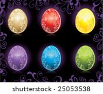 colored easter eggs | Shutterstock .eps vector #25053538