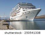 Big White Cruise Ship. Synny...