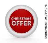 christmas offer circular icon... | Shutterstock . vector #250544278