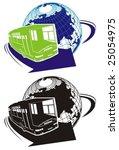 vector tourist bus logo   Shutterstock .eps vector #25054975