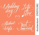 Wedding Day Typography Element...