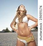 model posing in a bikini | Shutterstock . vector #25055176