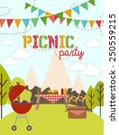 picnic party | Shutterstock .eps vector #250559215