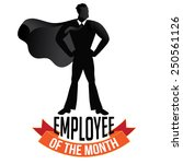 male employee of the month... | Shutterstock .eps vector #250561126