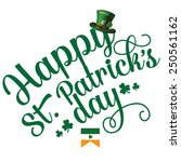 happy st patrick      s day... | Shutterstock .eps vector #250561162