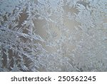 close up of ice crystals at a... | Shutterstock . vector #250562245