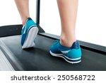 female legs in turquoise... | Shutterstock . vector #250568722