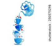 love tea | Shutterstock .eps vector #250575298