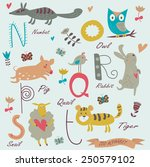 zoo alphabet with cute animals. ... | Shutterstock .eps vector #250579102