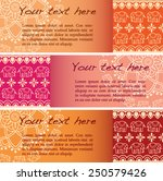 set of 3 colorful traditional... | Shutterstock .eps vector #250579426