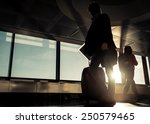 Passengers Silhouettes At The...