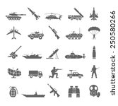 army icons | Shutterstock .eps vector #250580266