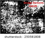grunge frame   abstract texture.... | Shutterstock .eps vector #250581808