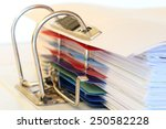 file folder macro with some... | Shutterstock . vector #250582228