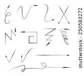 thin line arrows  doodle arrows | Shutterstock .eps vector #250583272