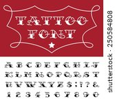 alphabet   tattoo vector font.... | Shutterstock .eps vector #250584808