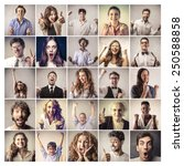 faces | Shutterstock . vector #250588858