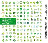 big set of vector icons ecology ... | Shutterstock .eps vector #250602958