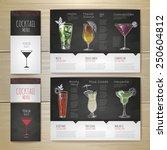 watercolor cocktail concept... | Shutterstock .eps vector #250604812