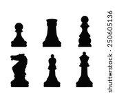 vector file of chess silhouette | Shutterstock .eps vector #250605136
