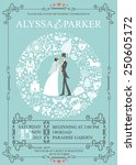 wedding invitation card with... | Shutterstock .eps vector #250605172