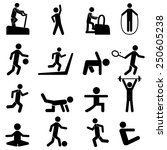 people fitness icons | Shutterstock .eps vector #250605238
