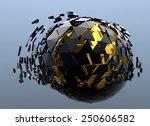sphere shattered abstract 3d... | Shutterstock . vector #250606582