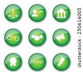 law sign green vector button... | Shutterstock .eps vector #250616005