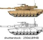 american abrams battle tank | Shutterstock .eps vector #250618948