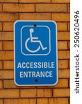 Handicap Entrance Sign Mounted...