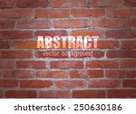 abstract brick background.... | Shutterstock .eps vector #250630186